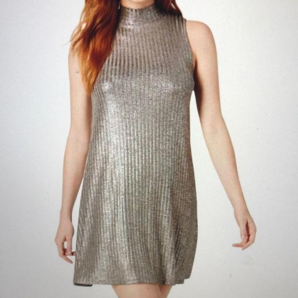 Kensie Dresses & Skirts - Kenzie Silver Metallic Party cocktail dress size M